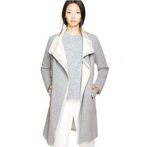 Aritzia Babaton Cormac Wool Fleece Zip Front Coat